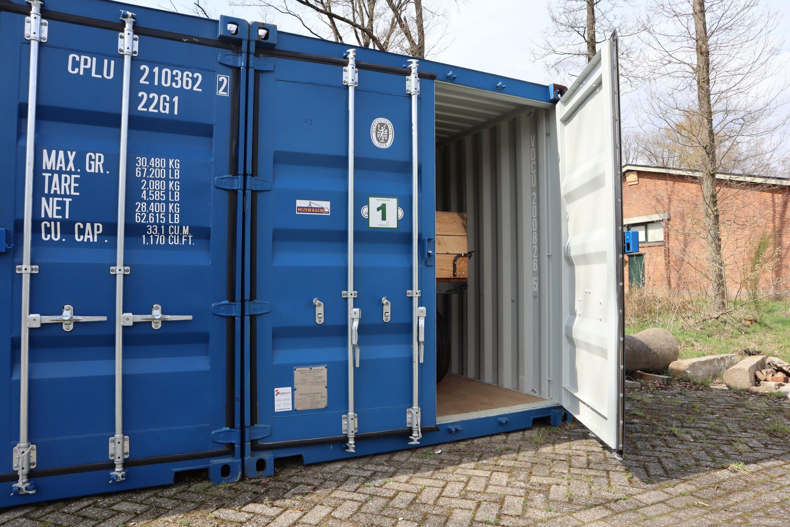zeecontainer 20ft blauw