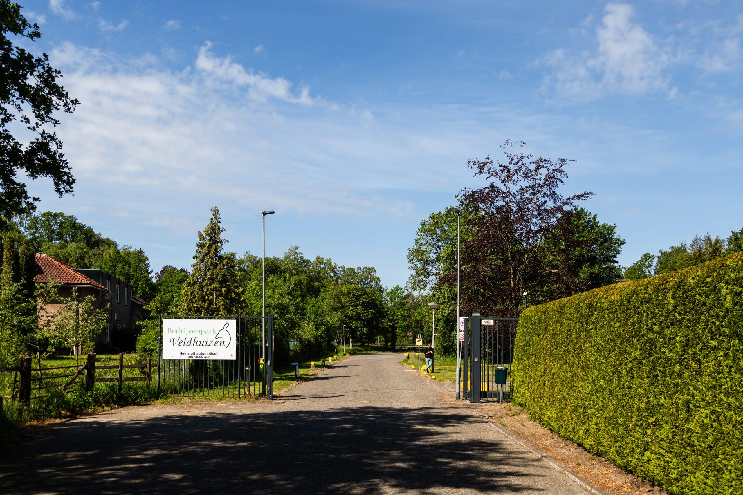 Hoofdingang van het Magazijncomplex Veldhuizen (Loenen)